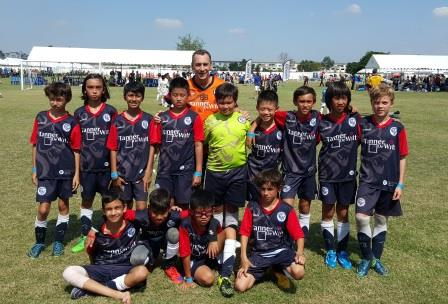 The ESF U11s Football team earlier in the season competing in Bangkok